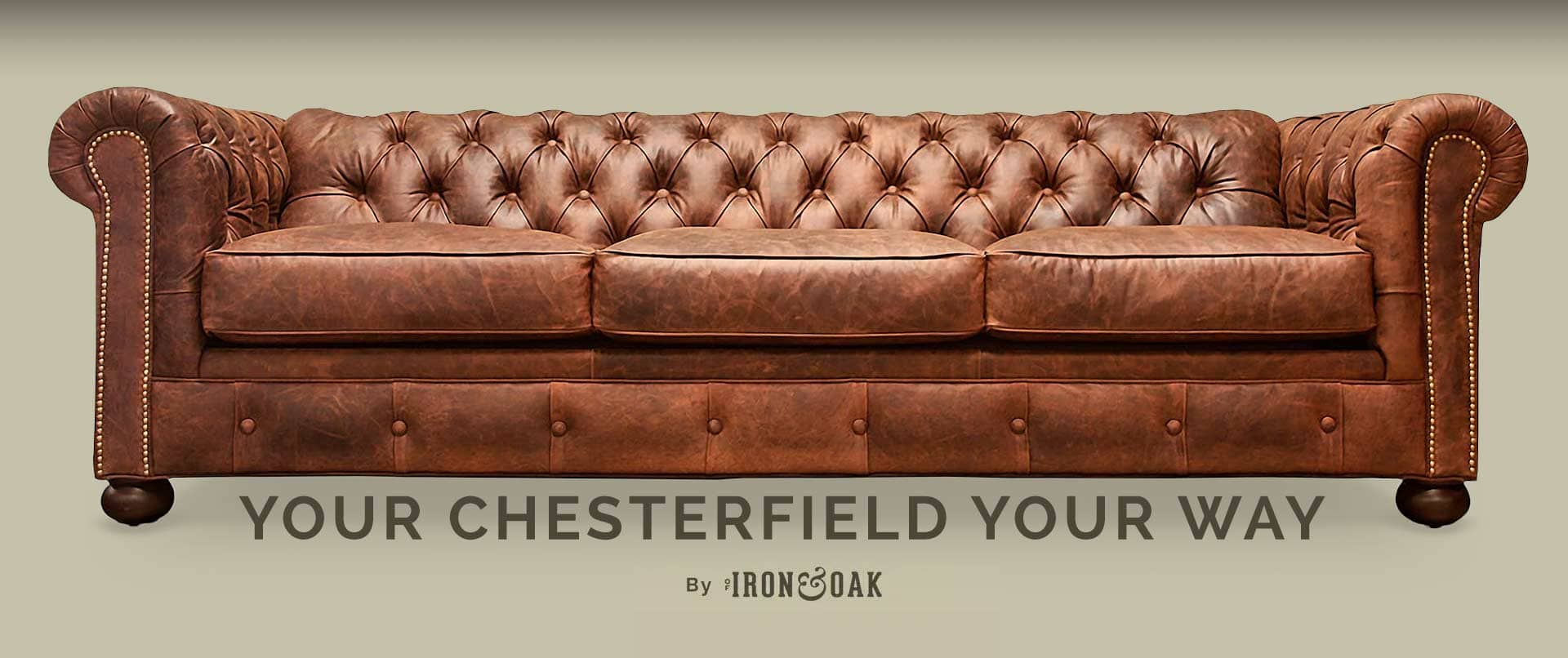 Irving Classic Brown Cigar Leather Chesterfield Sofa